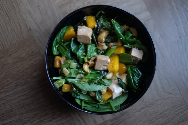 The recipe here is for a warm tofu dish that is super yummy! Soy products are a great source of plant-based protein. N.B. Use organic soy products because most commercial soy beans are genetically engineered.