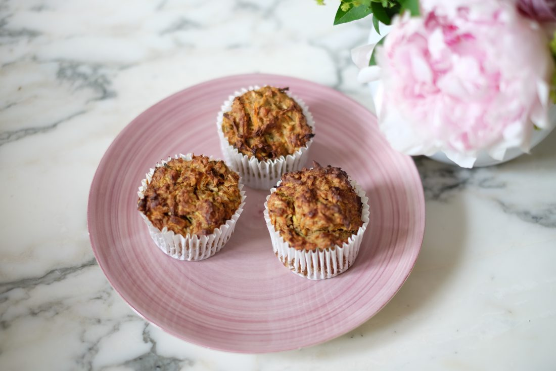 Breakfast muffin upgrade!  A super nutritious and portable start to your day: gluten free, and refined sugar free muffins with extra lean protein and hidden vegetables.