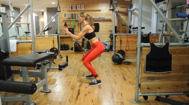 Amongst other things, a great lower body workout is the fastest way to convert fat to muscle. Watch and learn. Squat and burn! (*informal workout name: the legs day workout that is really actually bum day).