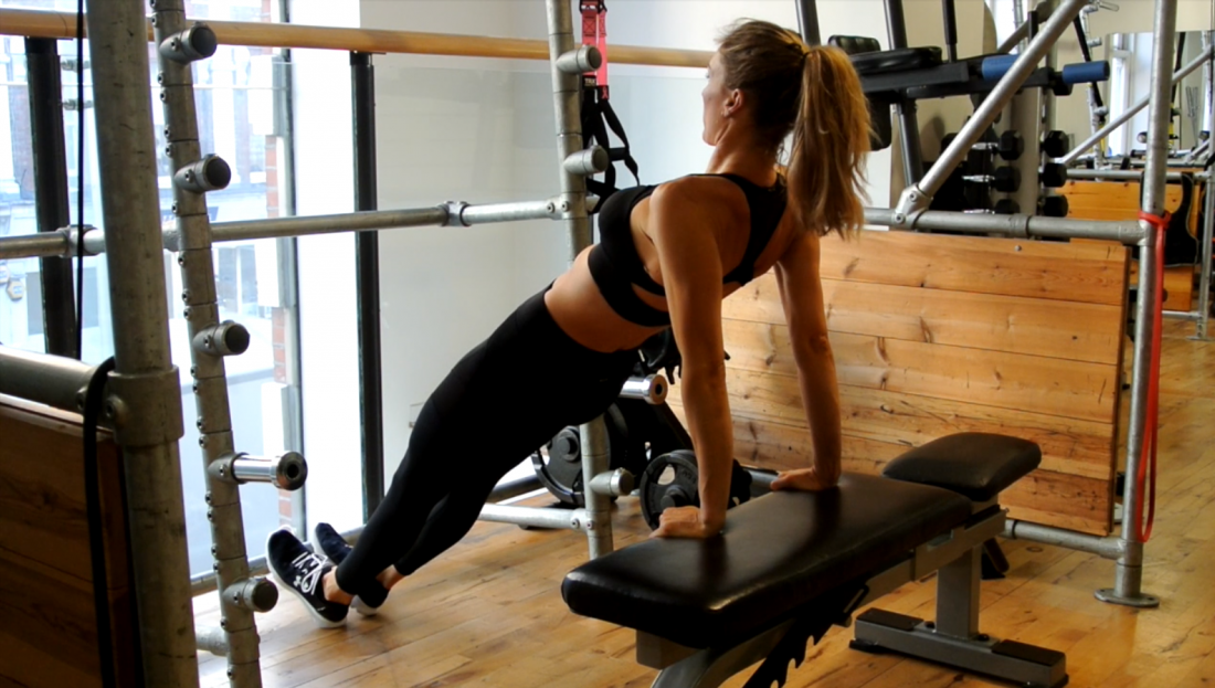 Muffin top, back fat, bingo wings. Ugly terms, huh? This workout has been carefully crafted to address all such upper body issues, keep your core strong and help you feel happy and confident in strappy or backless dresses by summer-time.