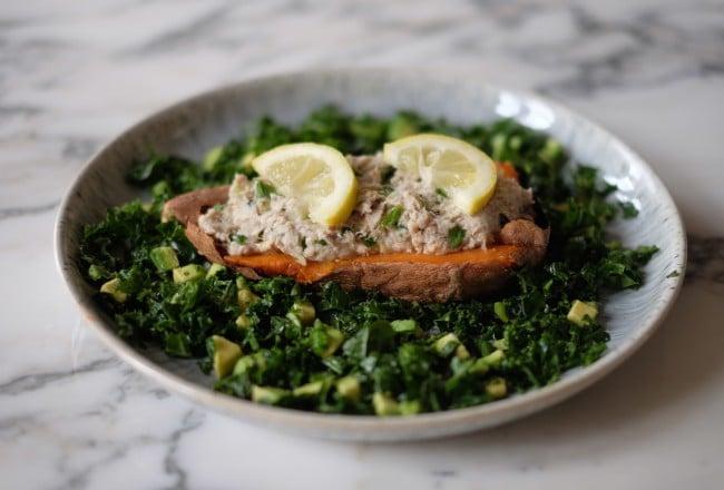 Smoked mackerel and sweet potato