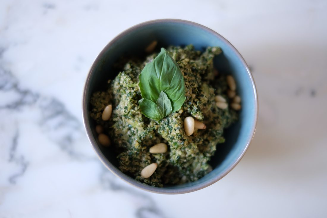Why walnuts are the world's healthiest nut. Nutritionally superior pesto recipe!